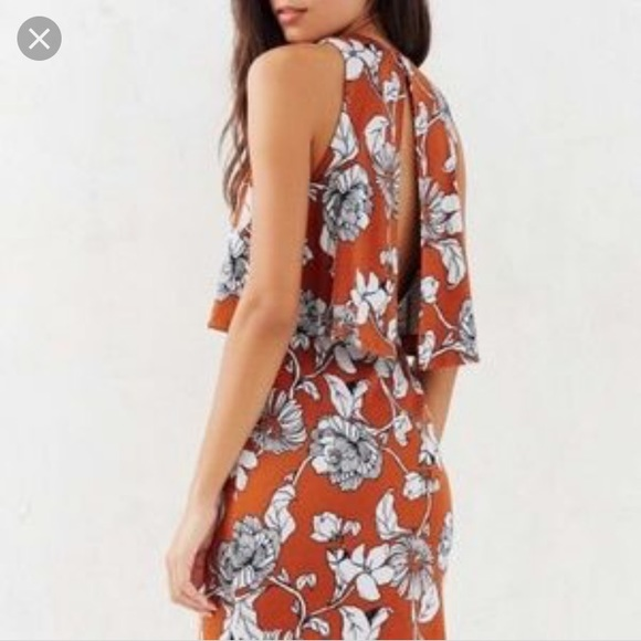 d7a009e8e3c3 Urban Outfitters Dresses | Cooperative Orange Floral Dress | Poshmark